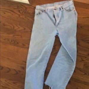 Vtg wrangler light wash jeans 32x34